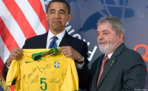 Brazilian Soccer jersey for Obama.